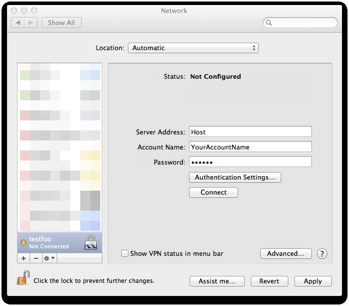 vpn for mac os x 10.6