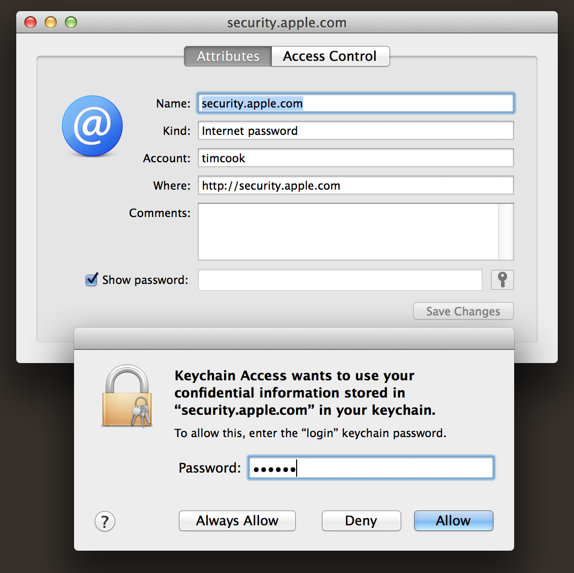 Dumping cleartext passwords from the OS X keychain – Lucas ...
